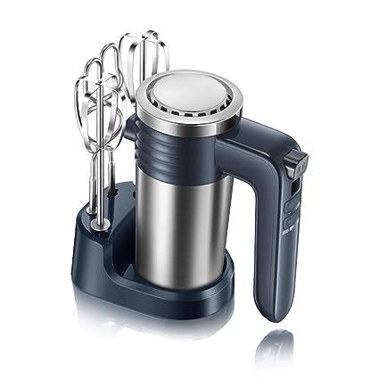 Wjsw Multifunción Eléctrico Batidora Amasadora Robot De Cocina,Pantalla del Microordenador Ajuste De 9 Velocidades