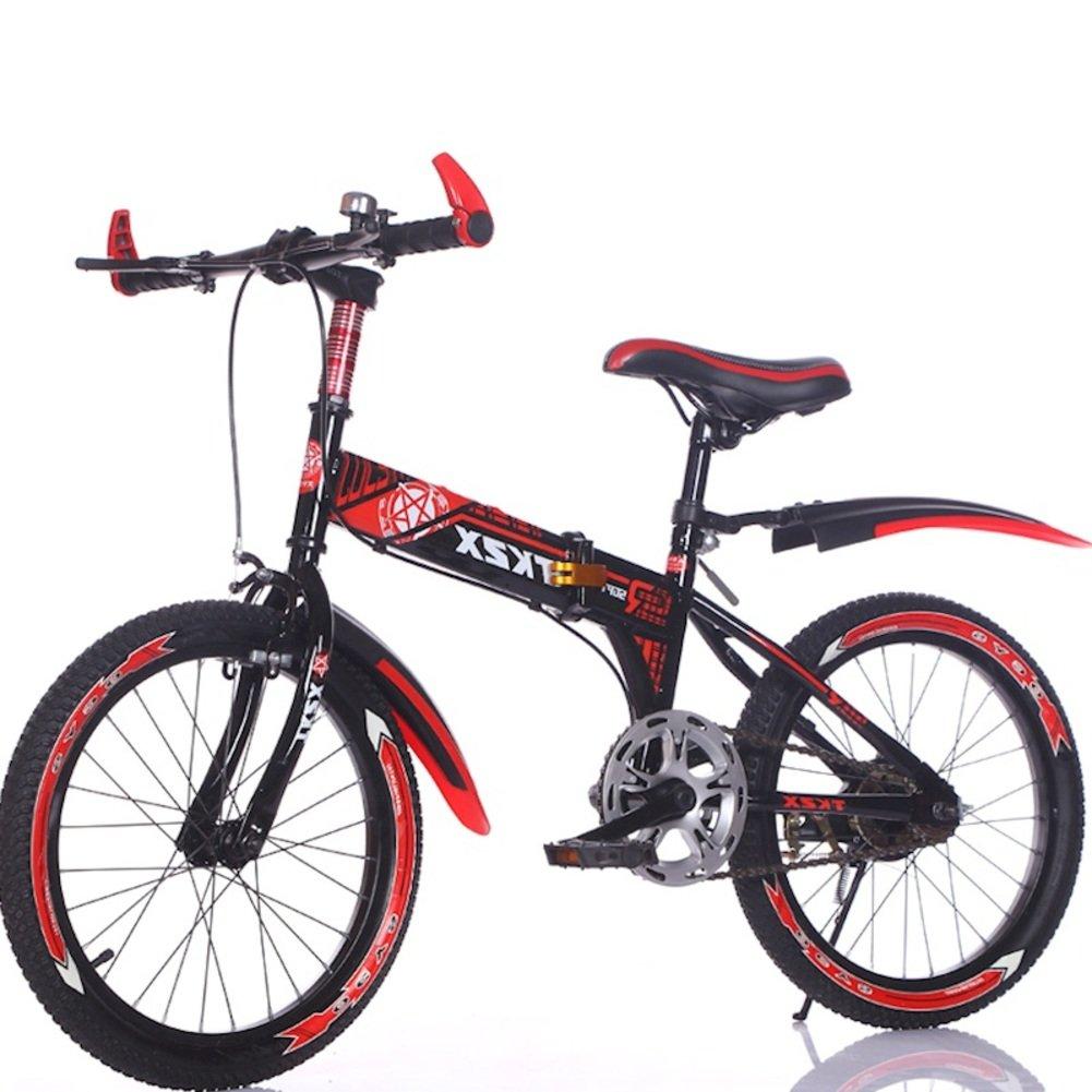 子供用折りたたみ自転車, 学生折りたたみ自転車 男 光ポータブル マウンテン バイク 折りたたみ自転車 B07DKH4P8J赤 18inch