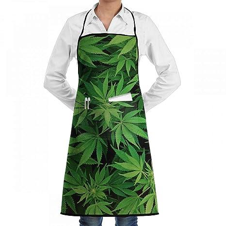 HOME - Delantales de Marihuana con Hoja de Cannabis, 1 Unidad, 2