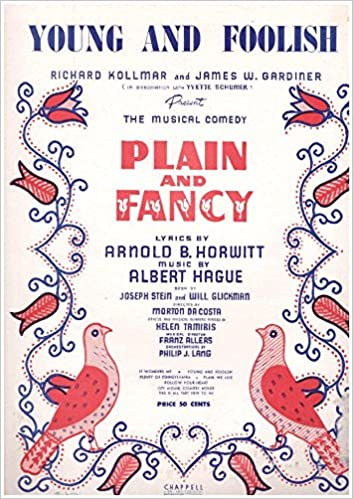 Young And Foolish Voice Piano Chords Fromt The Musical Comedy