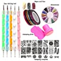 LoveOurHome Nail Art Tools Equipment Nail Stamping Templates Plate Rhinestones Decorations Dotting Pen Sticker Decal Manicure Kits