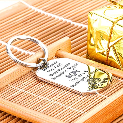 Inspirational 2021 Graduation Keychain to My Son Gift from Mom Encouragement Gift for College Student Teen Boys Step Son…