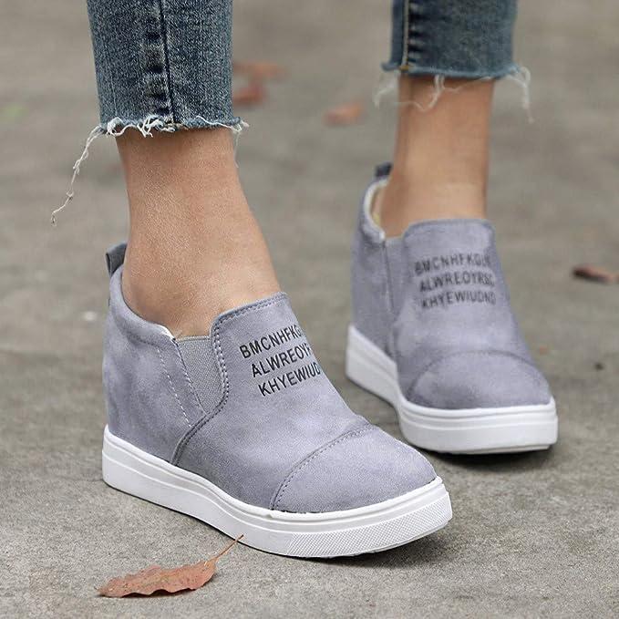 Amazon.com: Respctful_shoes para las Mujeres, Mujer Flock ...