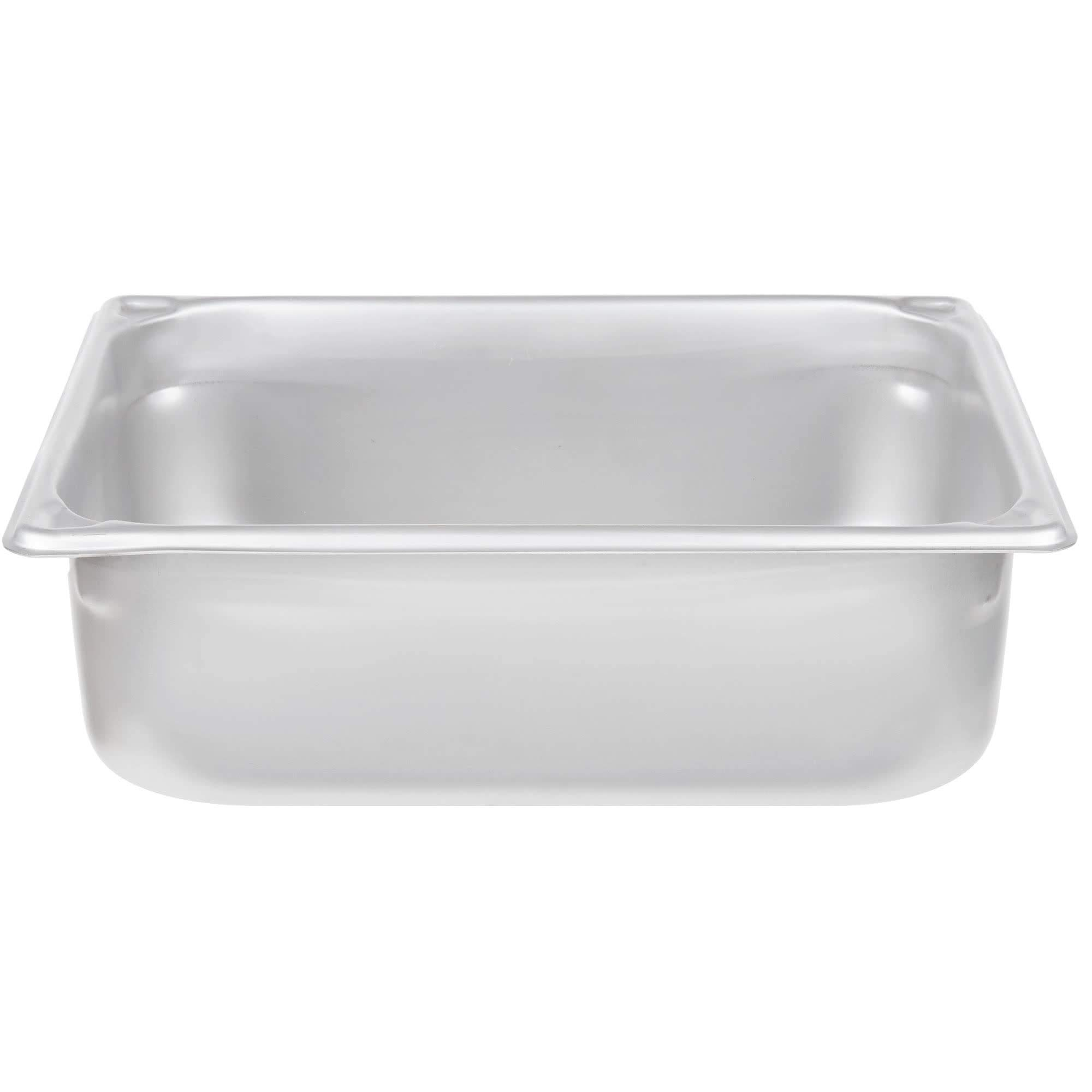 TableTop King 30240 Super Pan Heavy-Duty 1/2 Size Anti-Jam Stainless Steel Steam Table/Hotel Pan - 4'' Deep by TableTop King