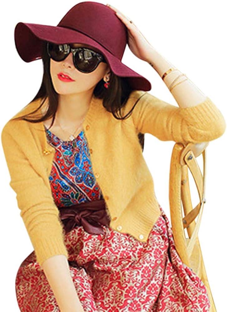 Women's Wool Foldable Wide...