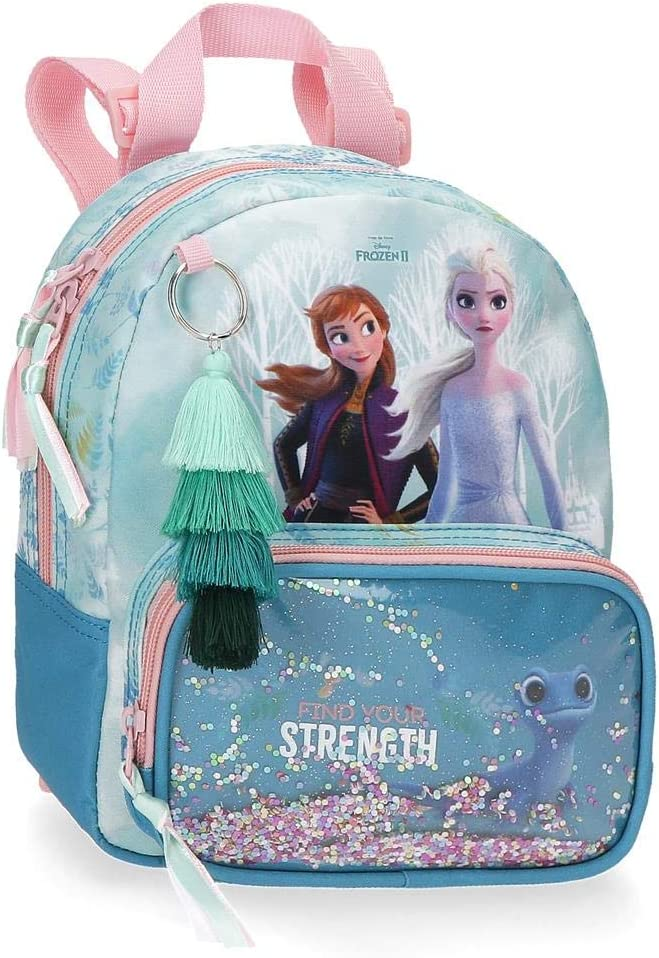 Frozen Mochila de Guardería Find Your Strenght, 19x23x8 cm, Azul