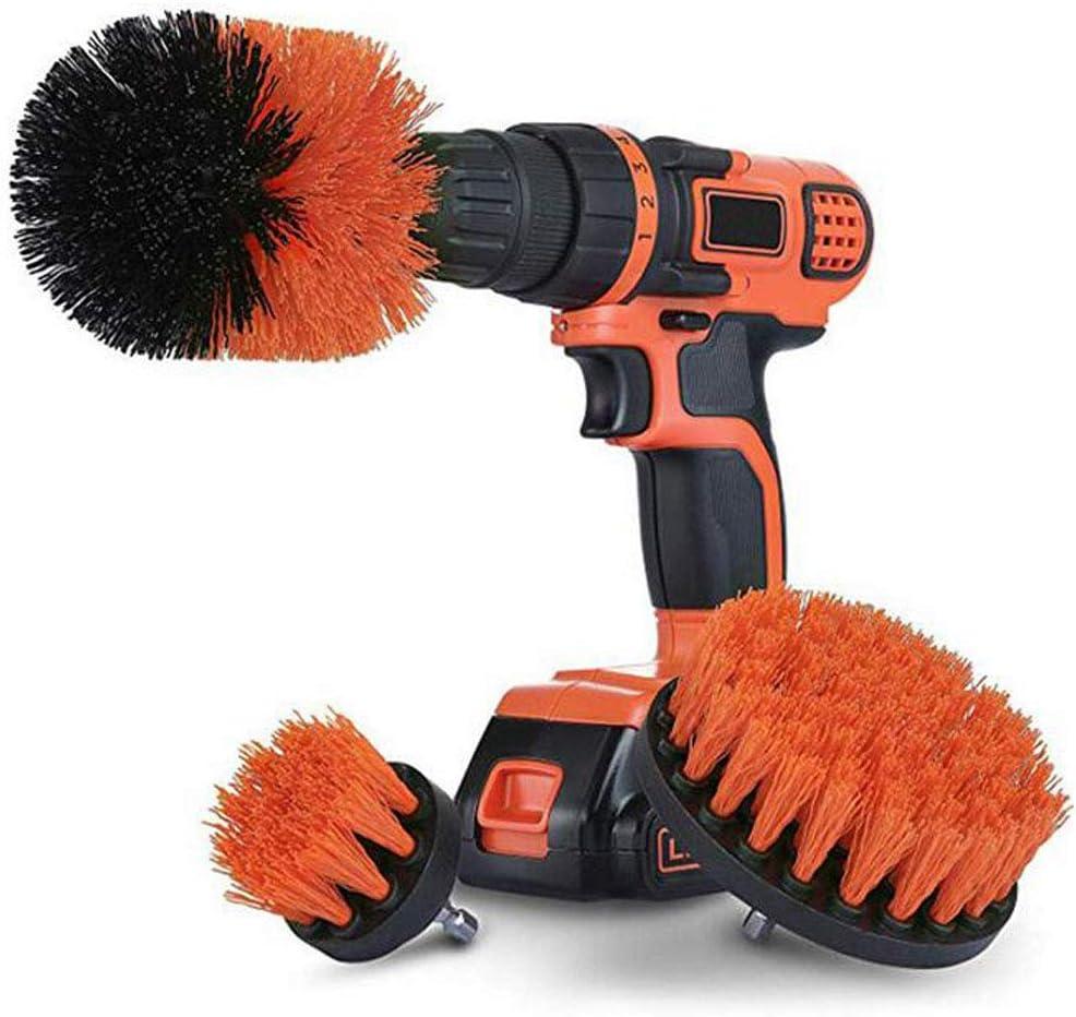 joyMerit 3pcs Drill Attachment Nylon Scrub Brush Tools 1//4 Inch Quick Change Shaft
