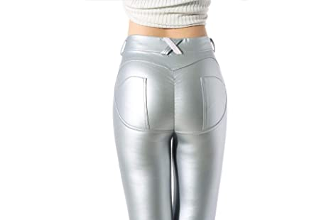 Image Unavailable. Image not available for. Color  Best Quality Hah PU  Leather Low Waist Leggings Women Sexy Push Up Hip Pants Pockets Legging 00282acc8