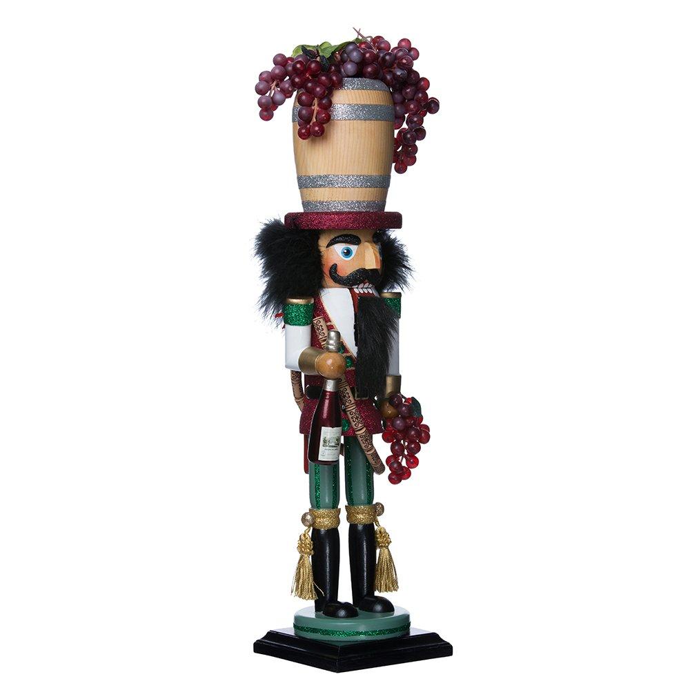 Kurt Adler 18.9'' Hollywood Wine Barrel Hat Nutcracker