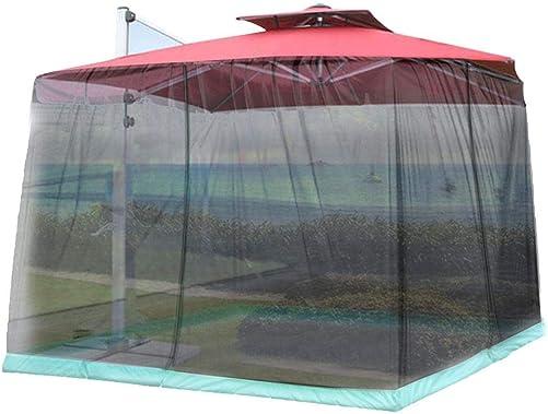 Patio Umbrella Mosquito Nets Screen with Zipper Door and Adjustable Rope, Patio Table Umbrella Mesh Screen for Outdoor Courtyard, Adjustable