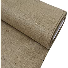 "Burlap Fabric, 38-40"" Wide, Over 100 Yards In Stock 10 Yard Bolt– 100% Jute – Natural"