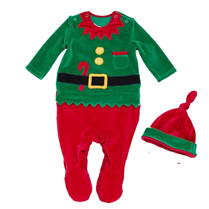 8710c5498933 Amazon.com  Beide Baby Boys Girls Christmas Santa Claus Footie ...