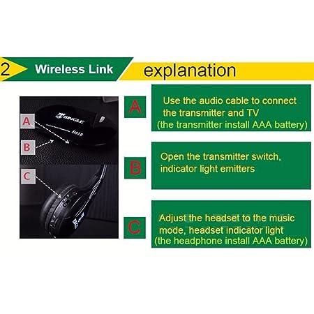 Amazon.com: Bingle B616 Multifunction Stereo Wireless Headset Headphones with Microphone Fm Radio for Mp3 Pc Tv Audio Phones: Home Audio & Theater