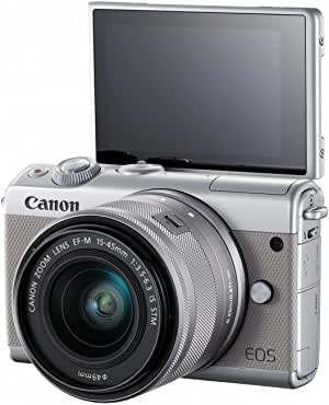 Canon EOS M100 Kit (EF-M15-45 IS STM) Mirrorless Camera, Grey