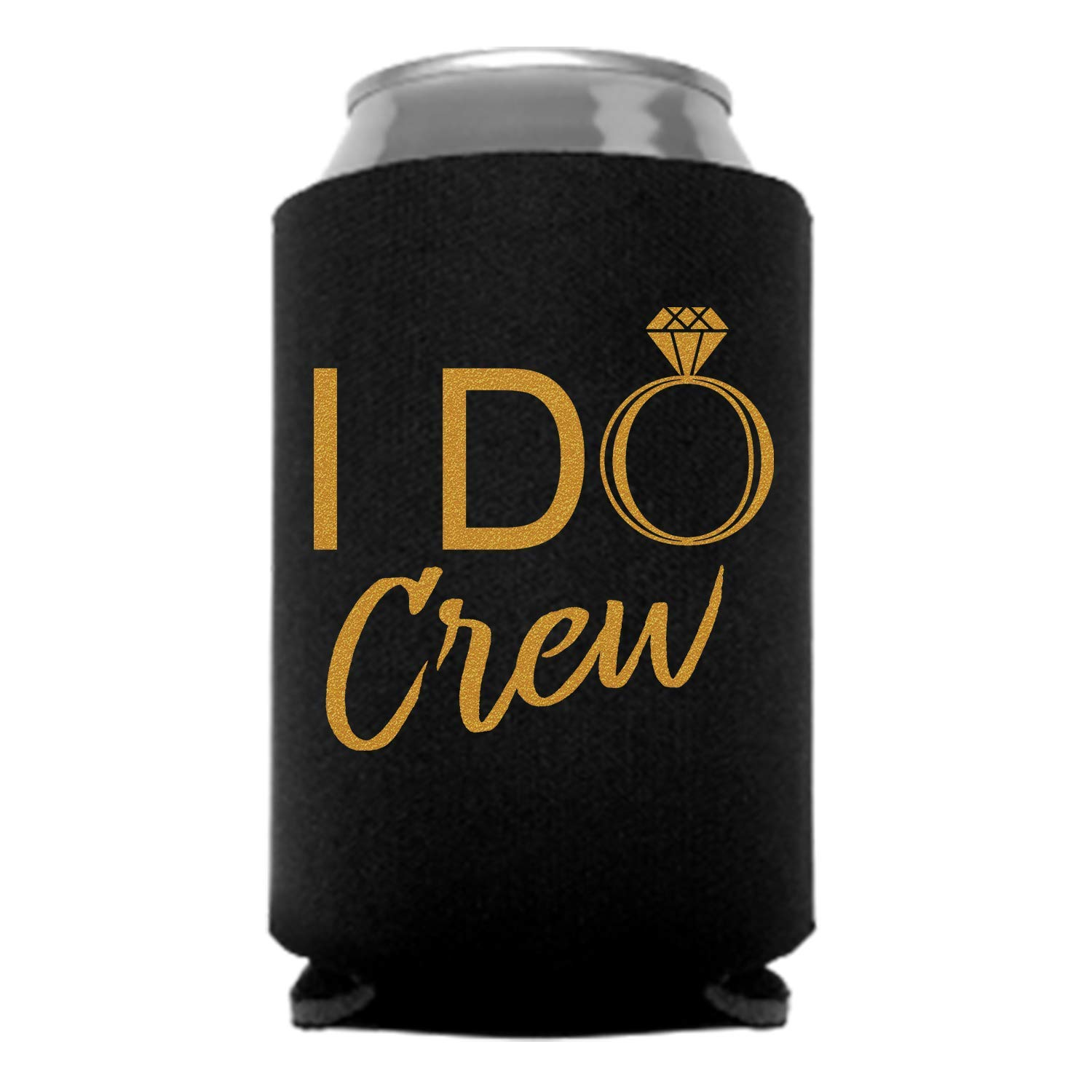 6 Pc. Wedding Special Can Coolers Party Favor Bride Tribe Black
