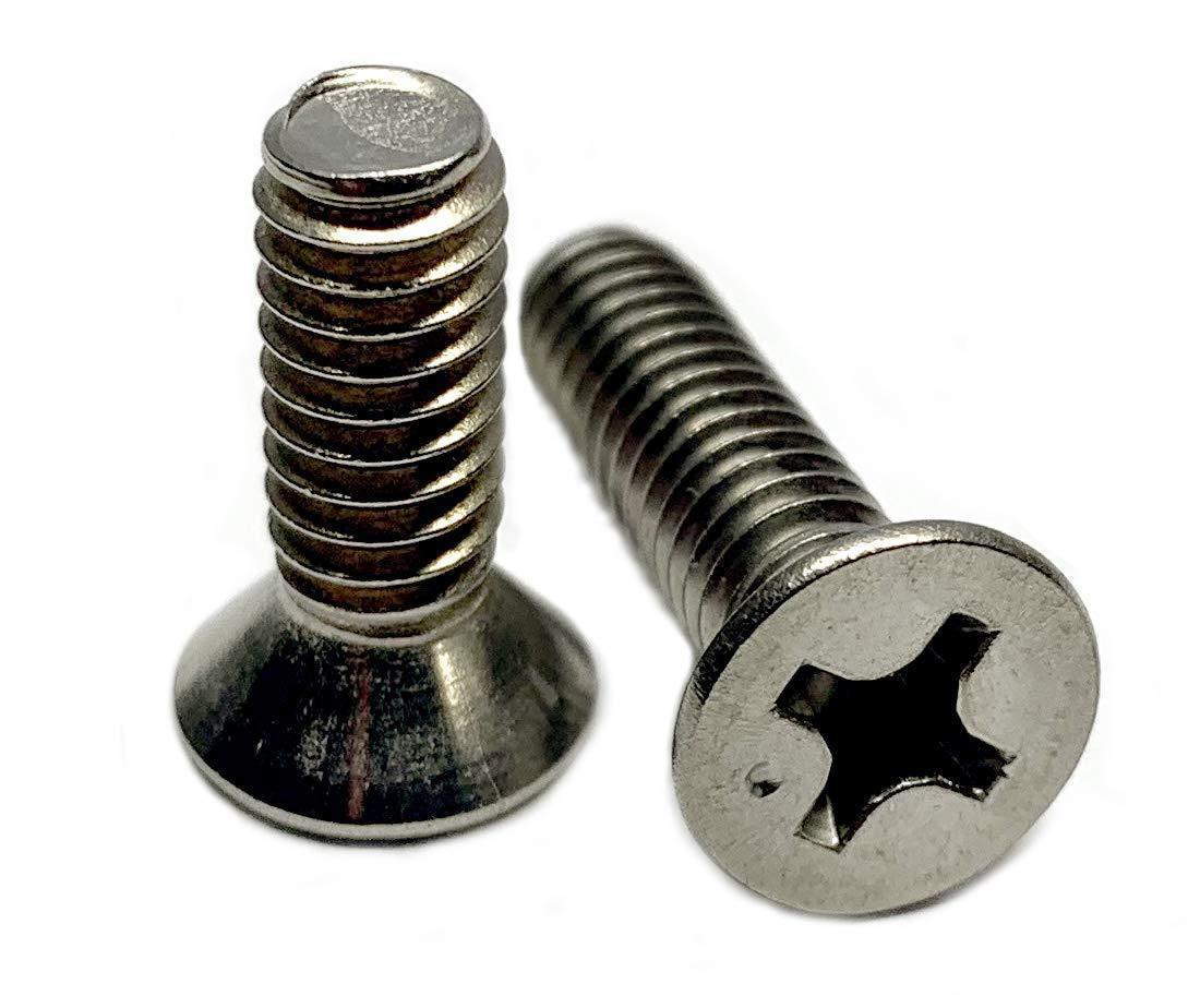 Type 316 Stainless Steel Phillips Flat Machine Screw Kit Marine Bolt Supply 6-111317