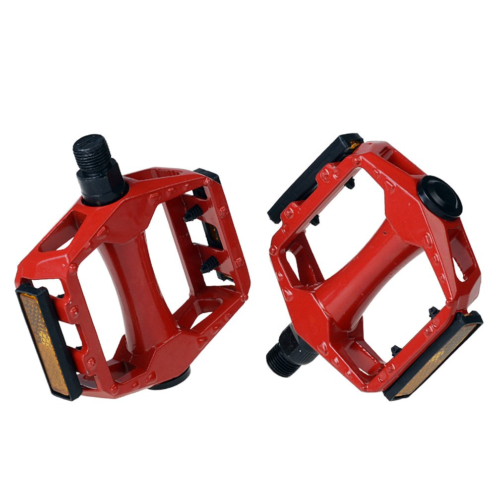 """Henweit 9 16"""" Bicycle Pedals for Mountain MTB Bike Cycling Flat Platform Alloy"""