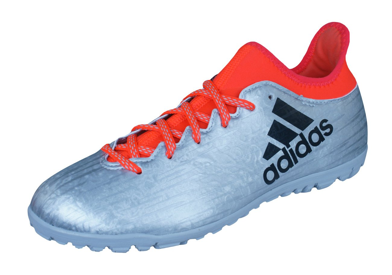 adidas X 16.3 TF Mens Astro Turf Soccer Sneakers/Boots-Silver-10