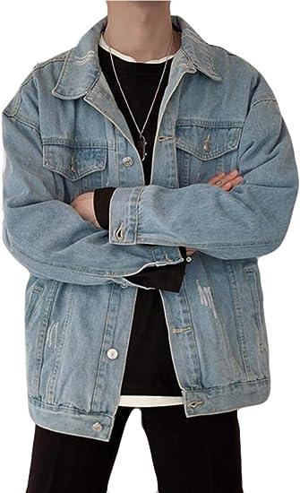 Alppvメンズ Gジャン デニム コート ジャケット ジージャン 長袖 無地 ジャケット アウター メンズ 春 秋 かっこいい コート カジュアル 人気 トップス オシャレ 通学
