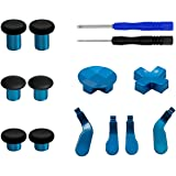 E-MODS GAMING 12 in 1 - Metal Mod 6 Swap Thumbsticks Joysticks, 4 Paddles & 2 Dpads with Open Tool for Xbox One Elite Control