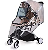 Bemece Stroller Rain Cover Universal, Baby Travel Weather Shield, Windproof Waterproof, Protect from Dust Snow