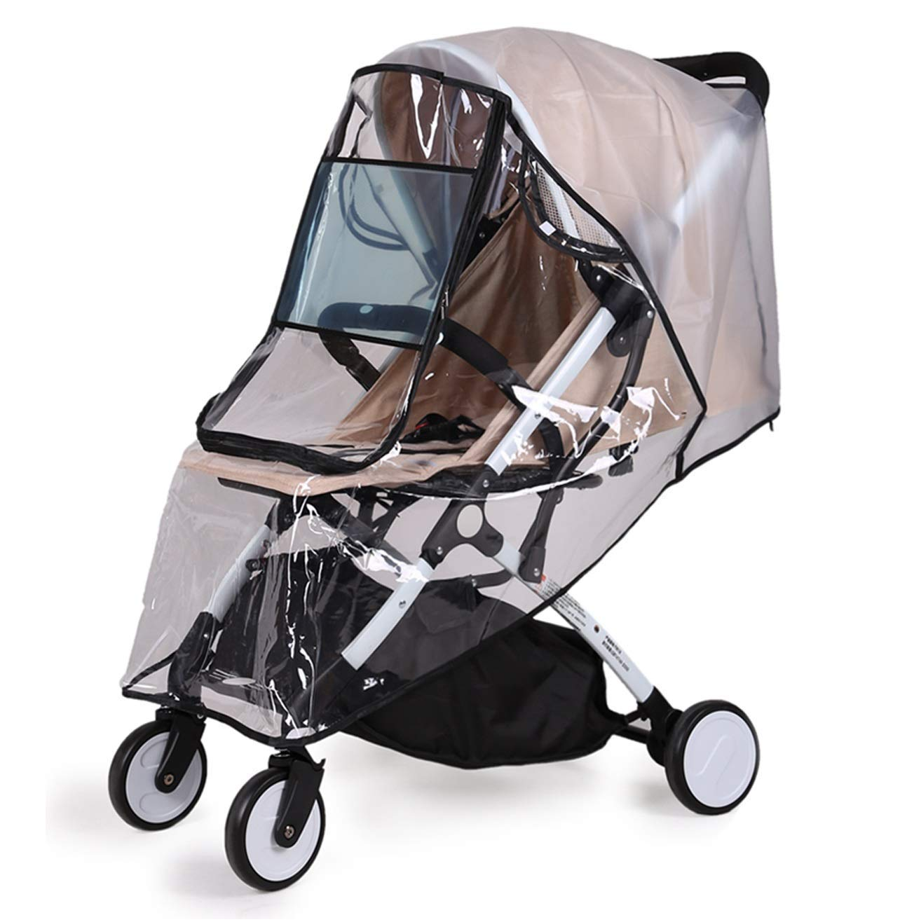 Diagtree Stroller Rain Cover Universal, Baby Travel Weather Shield, Windproof Waterproof, Protect from Dust Snow Insects (Black-M) by Diagtree