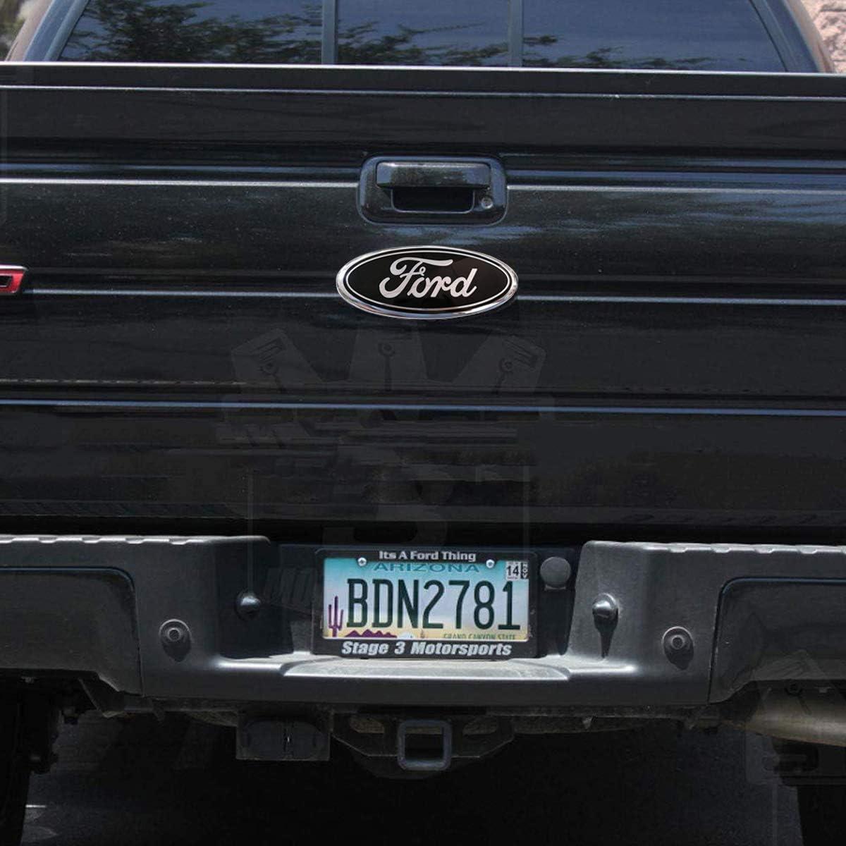 F150 Emblem Oval 9X3.5 American Flag Ford Front Grille Tailgate Emblem Decal Badge Nameplate Fits for 04-14 F250 F350,11-14 Edge,11-16 Explorer,06-11 Ranger 9inch Ford Emblem