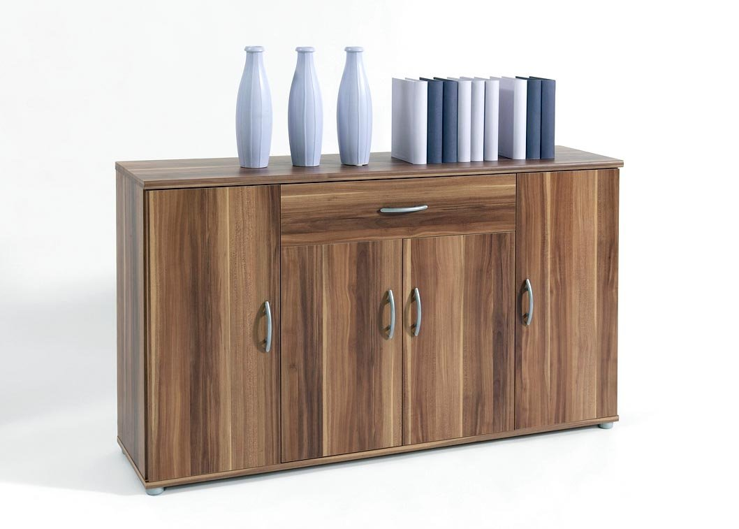 Sideboard Walnuss kommode sideboard lilly 13 in walnuss nussbaum zwetschge mit 4
