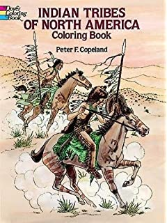 indian tribes of north america coloring book dover history coloring book