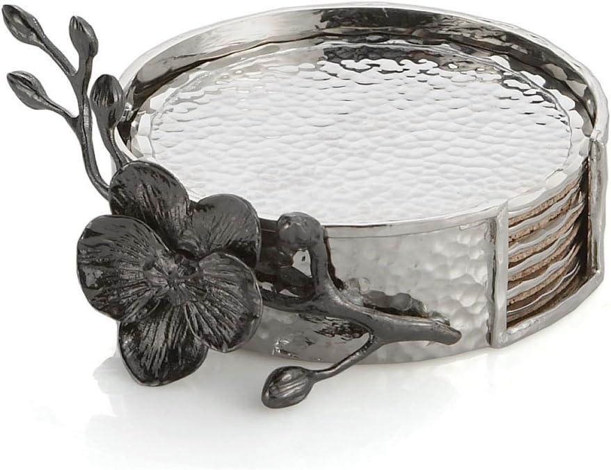 Michael Aram Black Orchid Drink Coaster Set