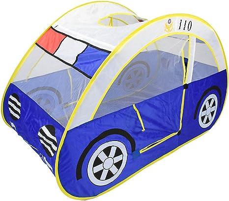 Tienda de campaña plegable para niños, forma de coche con mosquitera portátil y plegable para uso en interiores y exteriores: Amazon.es: Bebé