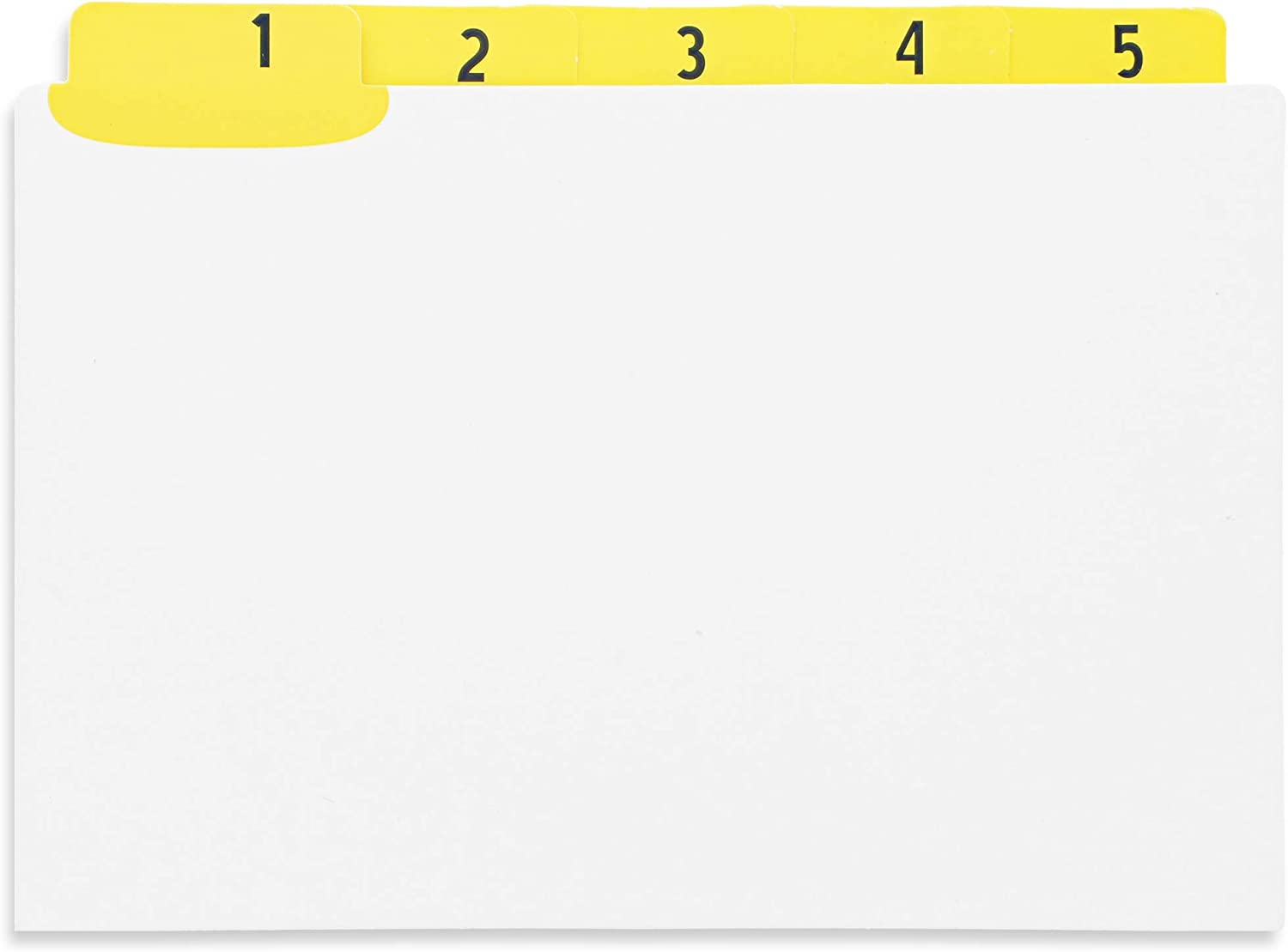 Paper Junkie Index Card Guides with UV Laminated Tabs 2 Pack Numbers 1-31 6 x 4.5 in