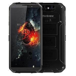 "Unlocked Cell Phone, Blackview BV9500 Rugged Smartphone 10000mAh Battery Wireless Charging 5.7"" FHD+IPS Display Dual Sim 4GB Ram+64GB ROM Dual Camera (Black)"