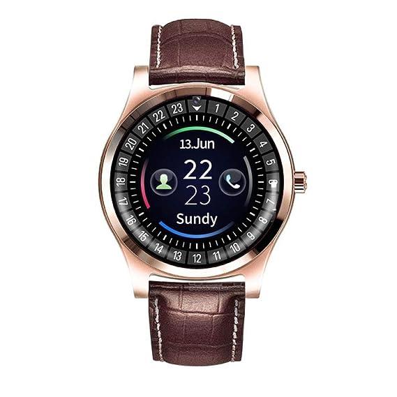 Hombres Mujeres Smart Watch Soporte con cámara Bluetooth Sim SD ...