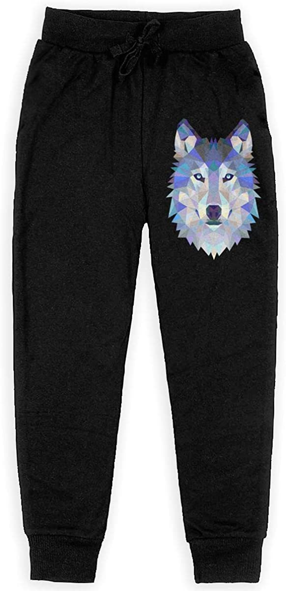 Boys Sweatpants Wolf Joggers Sport Training Pants Trousers Cotton Sweatpants for Youth