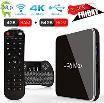 Android 8.1 Smart TV Box de H96 MAX X2, 4G + 64G, Amlogic S905 X2 CPU