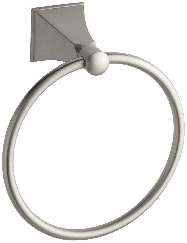 Kohler K-487-BN Memoirs Towel Ring with Stately Design (Vibrant Brushed Nickel)