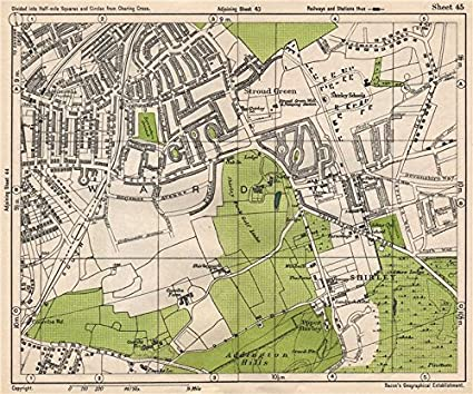 Map Of South East London.South East London Shirley Addiscombe E Croydon Stroud Green Bacon