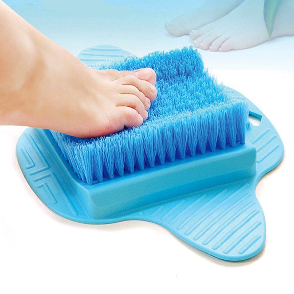Amazon.com : Bath Blossom Foot Scrubber Brush, Free Hanging Hooks ...