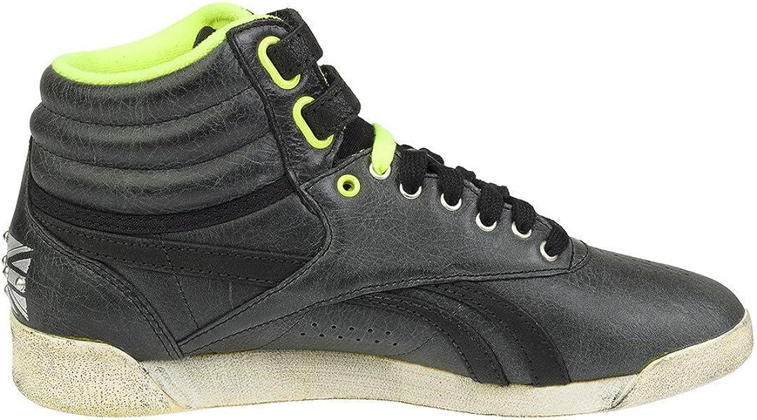 5326704d29006 Classic Freestyle Hi Socquettes pour Femme Noir Jaune. Reebok - FS Hi -  V61035 - Couleur  Creme-Vert-Noir - Pointure. Retour. Appuyez ...