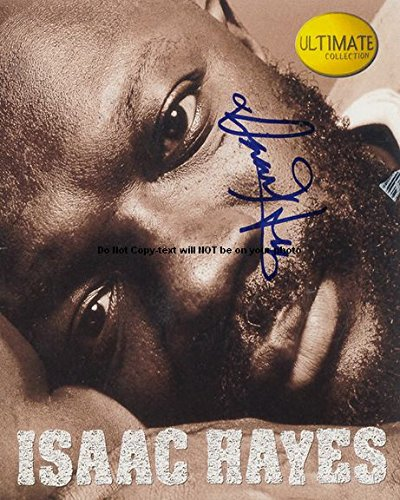 Isaac Hayes Autographed Preprint Signed Photo 1 (Photo Signed Hayes)