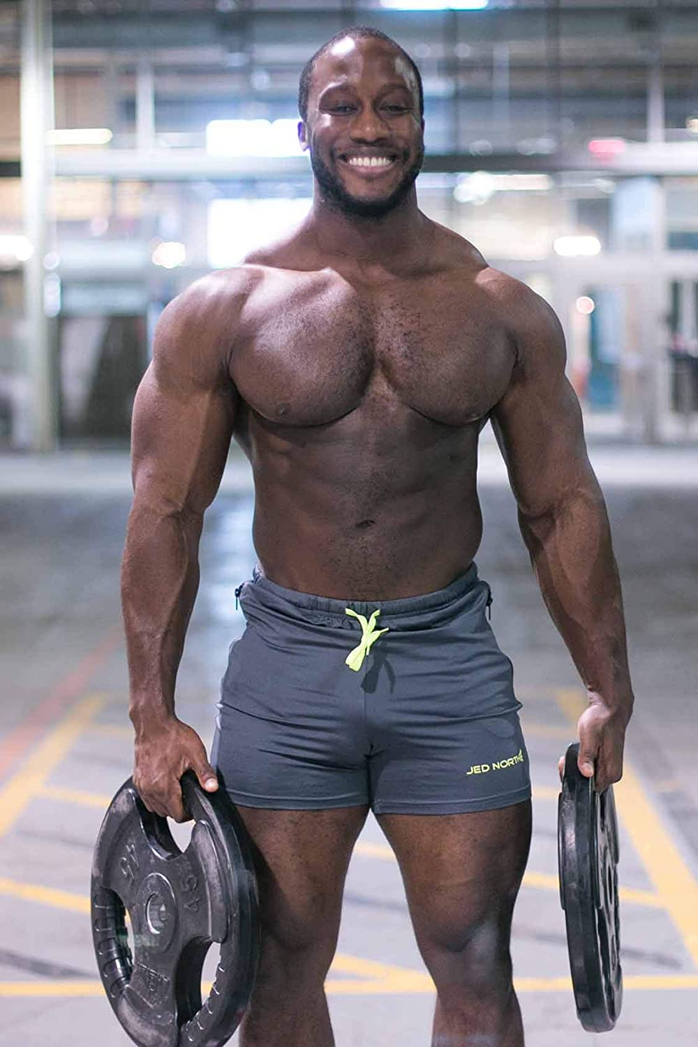 Jed North Mens Fitted Shorts Bodybuilding Workout Gym Running Tight Lifting Shorts