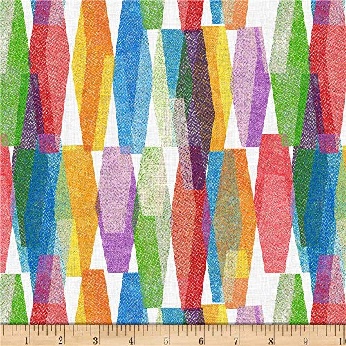 Windham Fabrics Lava Lamp 108'' Wide Back Fabric, White, Fabric By The -