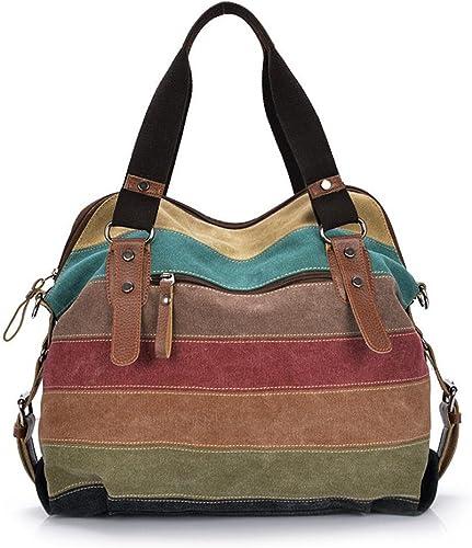 Color : Dark Gray Traveling Large Capacity Handbags Casual Mens Canvas Mens Bags. Single Shoulder Skew Multi Function Luggage Bags Carriemeow Canvas Traveling Bags