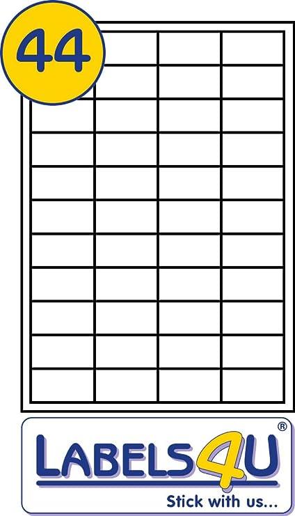 LaceDaisy FBA barcode etichette 48.5 x 25.4 mm con fogli A4 44 etichette per foglio adatto per adempimento da parte FBA etichette adesive stickering//etichette per indirizzi