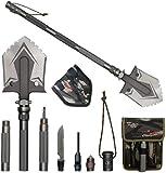 WF WU FANG Camping Shovels Military Folding Shovel Outdoor Survival Shovel Multitool High Carbon Steel Tactical Shovel…