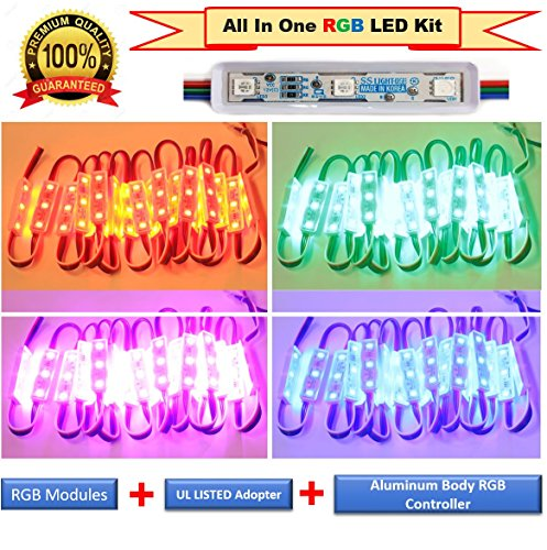 Luxdiyled Storefront All in One Pre Installed LED Light Kit Plug n Play Light (Multi-colored 25ft)
