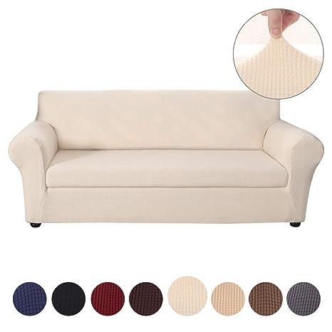 SearchI Funda sofá Duplex,Funda de Sofá Elásticade 3 Plazas,Tejido Jacquard de Poliéster y Cubre Sofa Universal Cubierta de Muebles Desmontable y ...