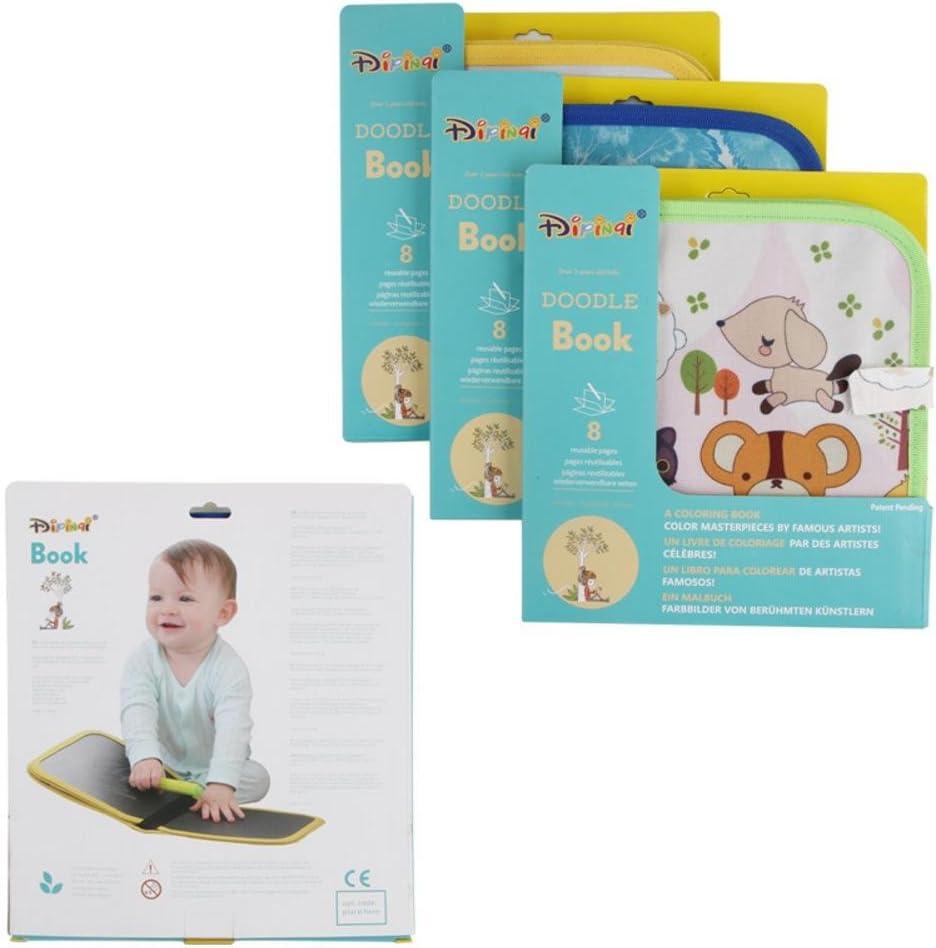 livre de dessin /à la craie Livre de bande dessin/ée color/é pour enfants Book of Discoveries Jouets /éducatifs pour enfant b/éb/é Baby Book Touch