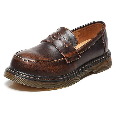 Mocasines de Mujer Retro College Style Uniforme de Estudiante Mary Jane Shoes: Amazon.es: Zapatos y complementos